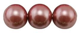 20 x prachtige glasparel kleur: Indian Red 12mm