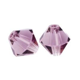 10 x Preciosa Kristal Bicone 8mm Xilion lila