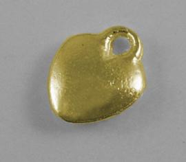 10 stuks goudkleur hartjes om bijvoorbeeld aan verlengkettingen te hangen 10mm