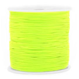 Rol met 90 meter Macramé draad 0.8mm Neon green (kies voor pakketpost)