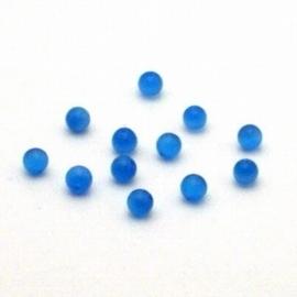 20 stuks prachtige cateye kralen glaskraal aquablauw 4mm