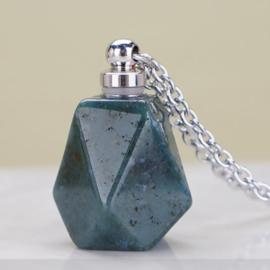 Gedenk hanger mini urn van half edelsteen India Agaat