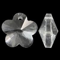 Prachtige kristal facet Hanger bloem 14 x 13 x 7mm gat 1mm