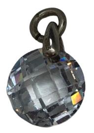 1x Precosia Kristal hanger Rond Transparant (925) 12 mm gat: 3 mm