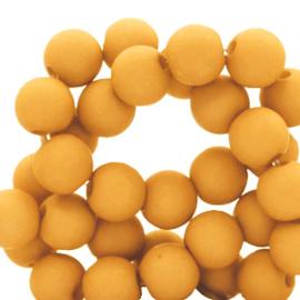 50 x 4 mm acryl kralen matt Golden yellow