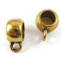 4 x Tibetaans zilveren bails hanger 10 x 8mm Ø5mm goud