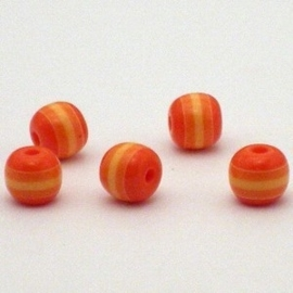25 stuk  Acryl ronde regenboog kraal 8 mm