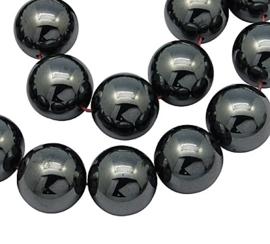10 stuks prachtige niet magnetische Hematiet kralen 10mm gat: 1,5mm