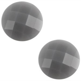 2 x Basic cabochon 10mm Grijs opal