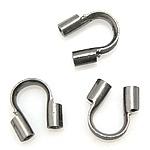 10 stuks donker zilver gunmetal  draadbeschermers