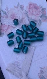 10 Stuks glaskraal ovaal transparant groen 10 mm