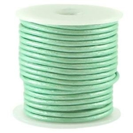 50 cm DQ Leer 3 mm Metallic Licht Turquoise