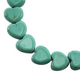 5x Natuursteen Hart (Howliet) 15x16 Turquoise Groen