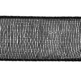 Organza Lint 10 mm per 5 meter Zwart