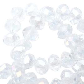 15 x Top Facet kralen 6x4 mm disc Crystal-rainbow diamond coating