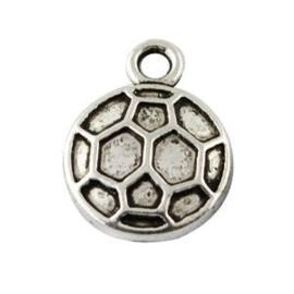 5 x Voetbal Antiek Zilver 15x11 mm