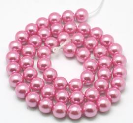 25 x prachtige glasparel roze 10mm
