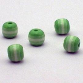 25 stuks Acryl ronde regenboog kraal 8mm