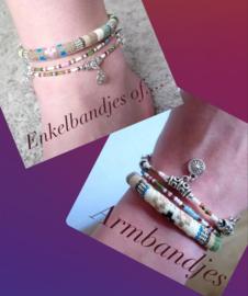Enkelbandjes of armbanden set