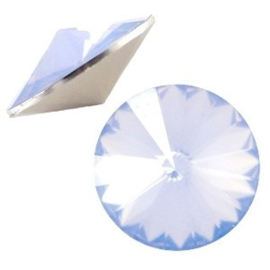 1x BQ quality 1122- Rivoli puntsteen12 mm Light sapphire blue opal ca. 12 mm (1122)