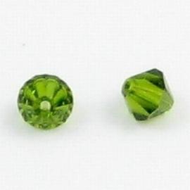 5x Swarovski kristal bicone 8mm Olivine