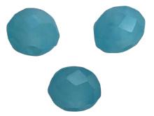 20 x Briolette top facet kristal kralen 4x3 mm gat 1 mm opaal licht blauw