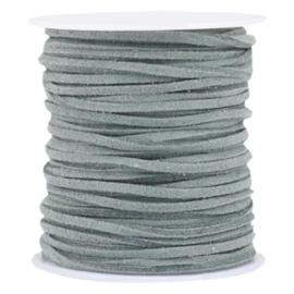 3 meter Imi suède 3mm Granite grey
