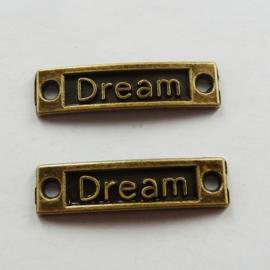 "2 x Prachtige tussenzetsel ""Dream""  36 x 10mm x 0,5mm   gat: 2mm"