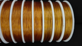 Per rijgdraad met coating Donker oranje 0,38 mm x 100 meter