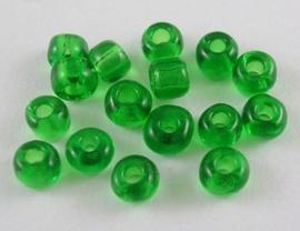 Zakje mooie rocailles 20 gram Seed Beads 6/0  4mm groen