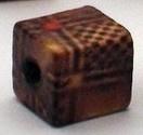 20 x  Houten vierkante kraal 10x10mm gat c.a. 3mm