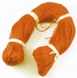 Waxkoord 10 meter 1mm oranje structuur B