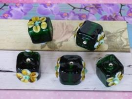 10 x High Quality Glass Hand Made Bead c.a. 18 x 18 x 14mm
