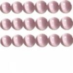 10 stuks prachtige cateye kralen 8mm lavendel