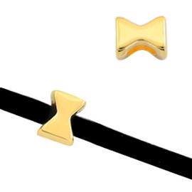 """2 x Schuivers DQ metaal """"X"""" vorm Ø3mm Goud"""