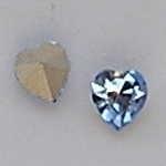 Preciosa  punt hart crystal 6mm blauw