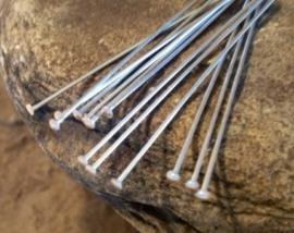100 stuks Platinumkleur nietstiften 60mm