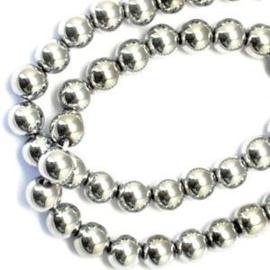 10 x Hematiet Magnetisch Vrij 8 mm Grade A Zilver