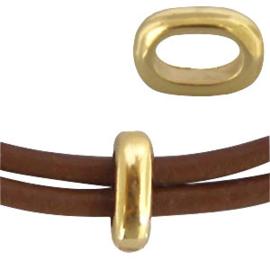 10 x DQ metaal ovalen ring goud ca. 8 x 6 mm (Ø 3.2x5.3mm)