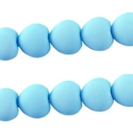 10 stuks Acryl kralen hart 10mm Azuur blauw