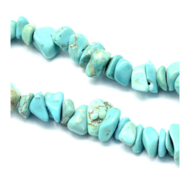 20 x Natural Turquoise Steen Chips