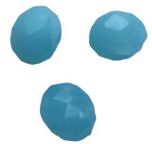 10 x Briolette top facet kristal kralen 6x4 mm gat 1 mm licht blauw