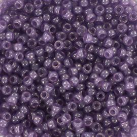 c.a. 5 gram Miyuki rocailles 11/0 - 2mm ceylon translucent lavender
