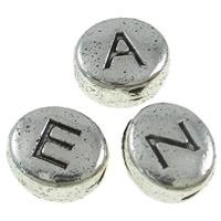 Metalen Ovale Letterkraal per stuk 6 x 7 x 4,5mm gat: c.a. 1,5mm