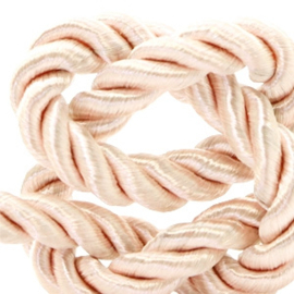 1 rol met 5 meter trendy koord weave c.a. 10mm Light salmon rose (kies voor pakketpost)
