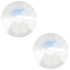 2 x Swarovski Elements 2088-SS34 flatback Xirius Rose White opal ca 7 mm (SS34)