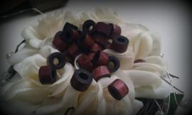 10 Stuks houten kraal donker bruin 8 mm  (op = op!)