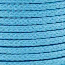 1 meter sieradenkoord c.a. 5 x 3mm kleur River Blue