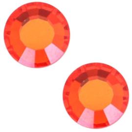 10 x  Swarovski Oranje plat strass steentje 5mm