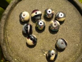 10 stuks prachtige gemstone donuts AB 7x11 mm
